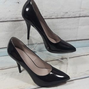 Nine West High Heeled Platform Black Shoe Sz 9.5 M